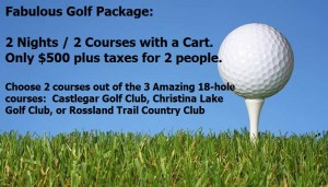 Super 8 Castlegar Golf Package